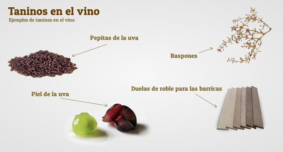 Taninos de la uva